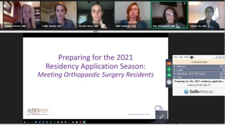 Screen grab of webinar concerning the residency application process